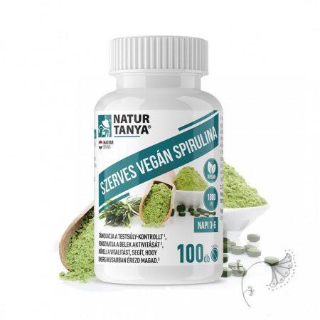 Natur Tanya Szerves Spirulina tabletta – 100db