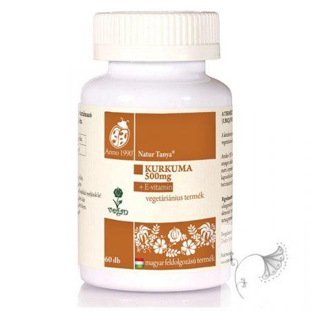 Natur Tanya Szerves Kurkuma + E-vitamin tabletta – 60db