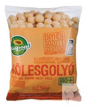 Biopont bio extrudált kölesgolyó enyhén sós 100 g
