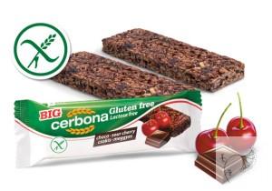 Cerbona glutén- és laktózmentes Csokoládés-meggyes müzliszelet