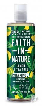 Faith in Nature citrom és teafa sampon – 400ml