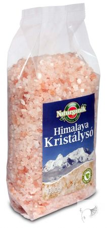 Naturganik Himalaya durva só, rózsaszín 1 kg