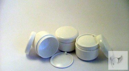 Fehér kozmetikai tégely 50 ml